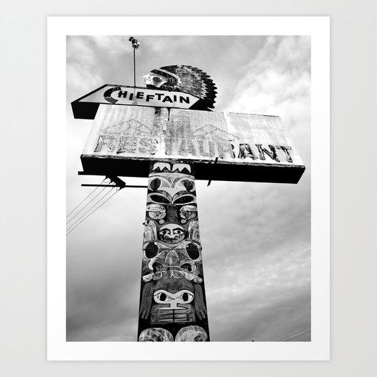 Totem Pole sign Art Print