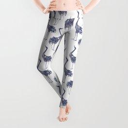 Watercolor Cranes  Leggings