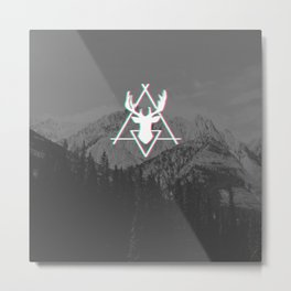 Forest & Mountain Metal Print