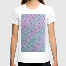 Mermaid Princess Glitter Scales Glam #1 #shiny #stripes #decor #art #society6 T-shirt
