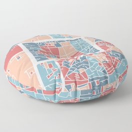 Chiang Mai map Floor Pillow