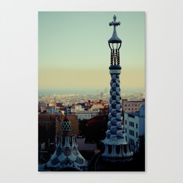 Barcelona: View from Parc Guell Canvas Print