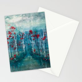 Red Flower Marsh Stationery Cards