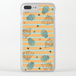 Geology Love: Fossils and Crystals Clear iPhone Case