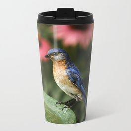 Perched Eastern  BlueBird Travel Mug