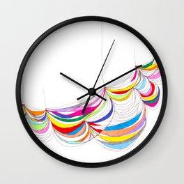 Curvilinear Fabric Grid Form 1 Wall Clock