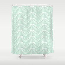 Geometric Umbrellas by Friztin Shower Curtain