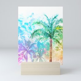 Neon Palm Trees Mini Art Print