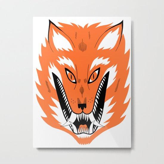 Cursed Fox Metal Print