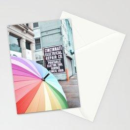 Umbrella Street Stationery Cards