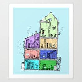 Home Sweet Home (Color) Art Print