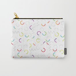 Funny color design. Arcs and Lines #3 Carry-All Pouch