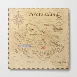 Treasure map Metal Print