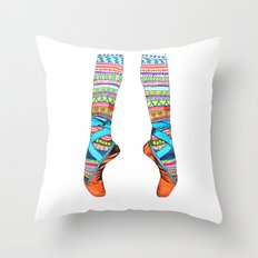 Happy Ballet Throw Pillow