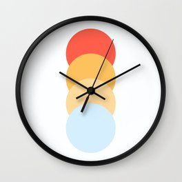 4 Classic Retro Dots Abnoba Wall Clock