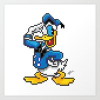 Donald Retro Art Print