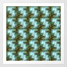 Zig's & Palms Art Print