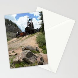 Climbing Up to the Longfellow Mine at 11,080 Feet Stationery Cards