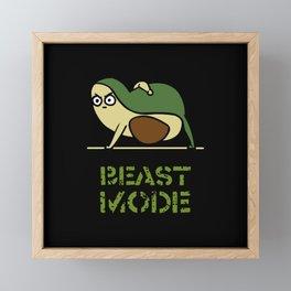 Beast Mode Avocado Framed Mini Art Print