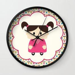 Little Girls Everywhere, Plus Their Leader! Wall Clock