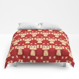Super cute animals - Cheeky Red Monkey Comforters