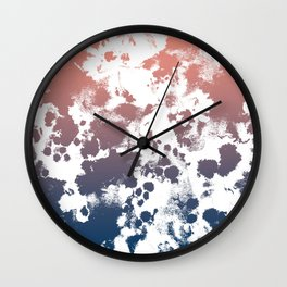 Ombre fade tie dye pastel trendy color way throwback retro palette 80s 90s style Wall Clock