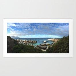 Boulder Beach, South Africa Art Print