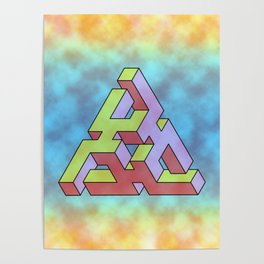 Triangle Of Abstract Colorful Poster