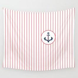 Maritime Stripes Anchor #maritime #anchor #artdeco #minimal #art #design #kirovair #buyart #decor #h Wall Tapestry