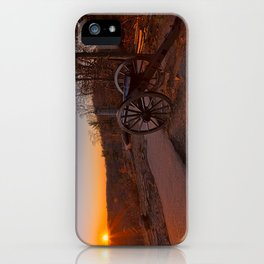 Gettysburg Sunset Cannon iPhone Case