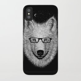 WHITE SPECTACLE iPhone Case