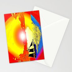 Sunset ship Stationery Cards