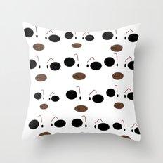 Jensen Merréll's Cartoon Cow Throw Pillow