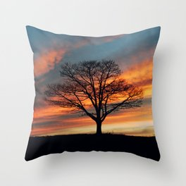 Branching Silhouette Throw Pillow