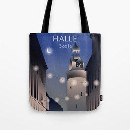 Halle (Saale) Travel Poster Tote Bag