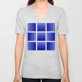 Four Shades of Blue Unisex V-Neck