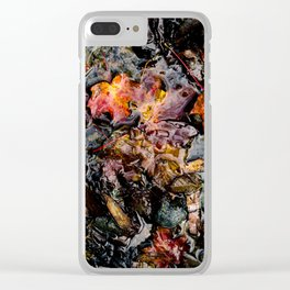 Leaves Submerged Clear iPhone Case