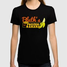 Bluth's Frozen Banana MEDIUM Black Womens Fitted Tee