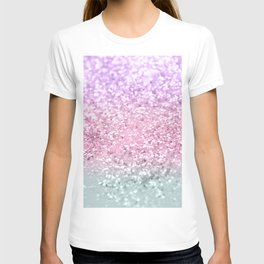 Unicorn Girls Glitter #7a #shiny #pastel #decor #art #society6 T-shirt