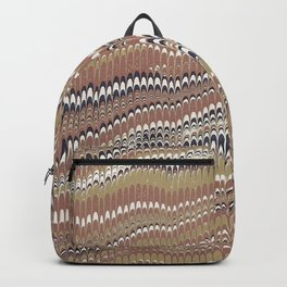 Electrified Ripples Tan Backpack