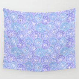 Blue and lilac anemones . Wall Tapestry