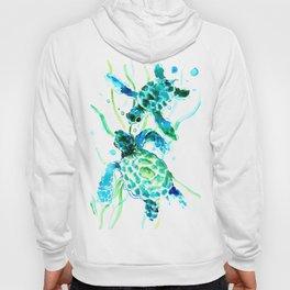 Sea Turtles, Turquoise blue Design Hoody