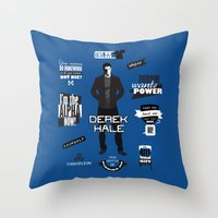derek hale Throw Pillows featuring Derek Hale Quotes Teen Wolf by Alice Wieckowska