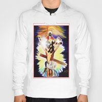 christ Hoodies featuring THE CHRIST by KEVIN CURTIS BARR'S ART OF FAMOUS FACES