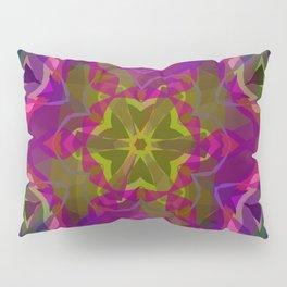 Crimson -purple kaleidoscope Pillow Sham