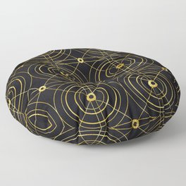 Gold and Black Art Deco: Sipping Morning Mimosas Floor Pillow