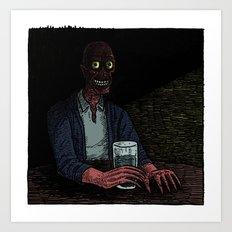 A stranger in the corner Art Print