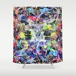 Crow's Paintbrush Shower Curtain