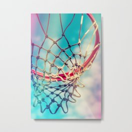 The Object Of Basketball Metal Print