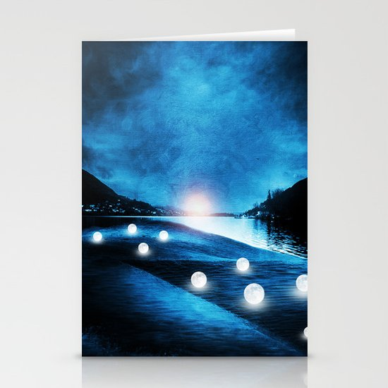 Field of lights Stationery Cards